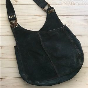Lucky brand vintage inspired 100% leather hobo bag
